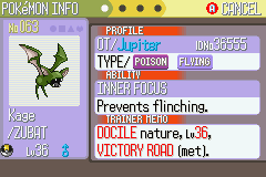 Pokemon Ruby - Character Profile  - My first shiny and it